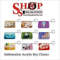 Sublimation Acrylic Key Chains