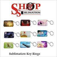 Sublimation Acrylic Key Rings