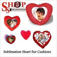 Sublimation Heart Fur Cushions
