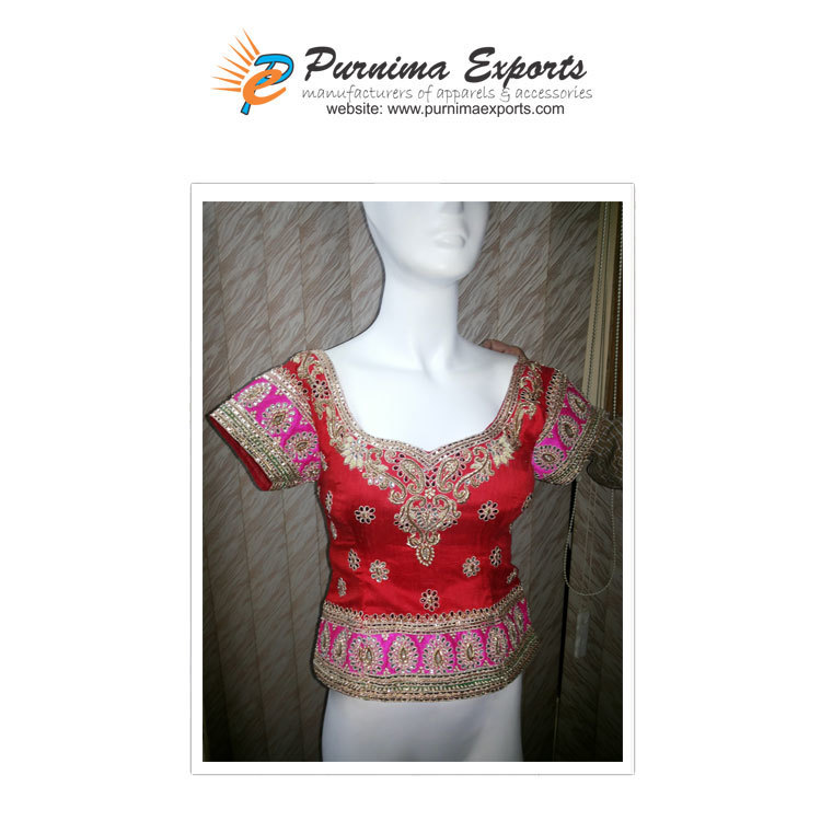 Hand Embroidered Asian Bridal Blouses