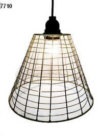 Wire Basket Pendant Lamp