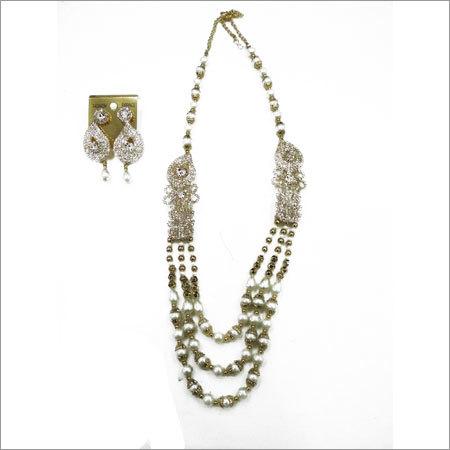 Imitation Pearl Pendant Set