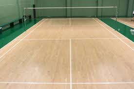 Indoor Badminton Court Wooden Flooring