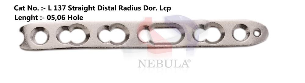 Straight Distal Radius Dorsal Locking Plate