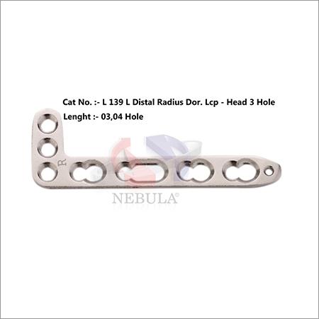L Distal Radius Dorsal Locking Plate (Head 3 H) (