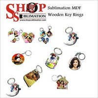 Sublimation MDF Wooden Key Rings
