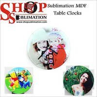 Sublimation MDF Wooden Table Clocks