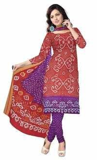 Bandhani Silk Materials Dress
