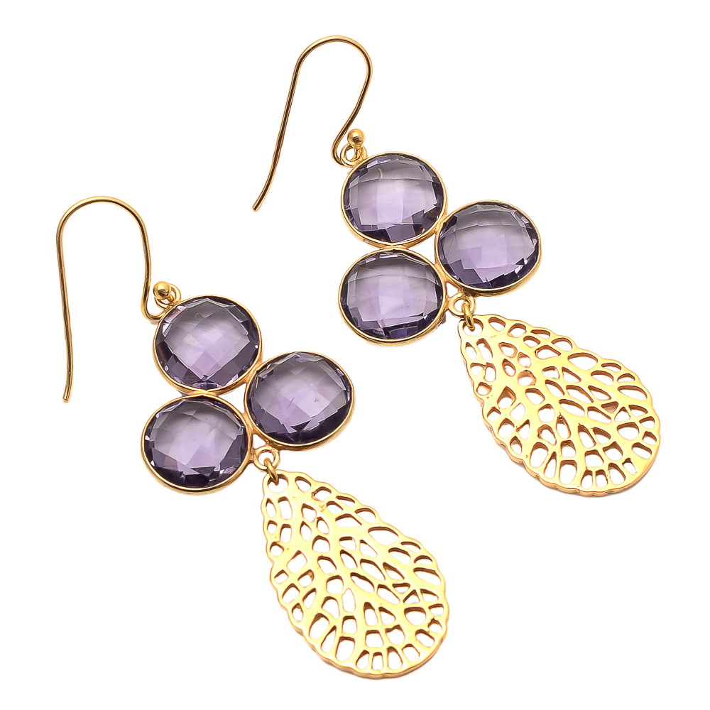 Amethyst Gemstone Fashion Earring