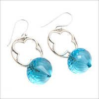 Blue Topaz Gemstone new design Earring