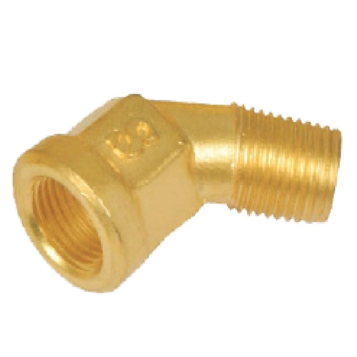 Brass Inverted Flare 45* Male Elbow