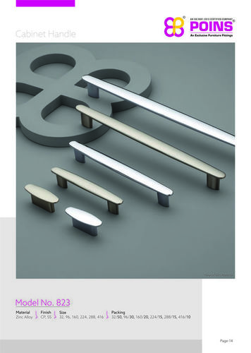 White Metal Cabinet Handle
