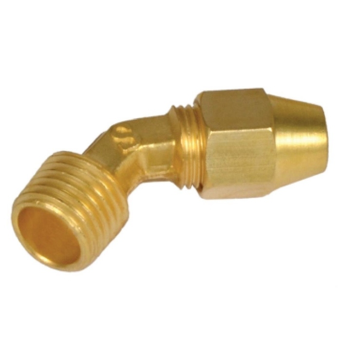 Brass 45* Male Elbow