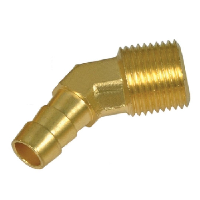 Brass 45* Barb Elbow