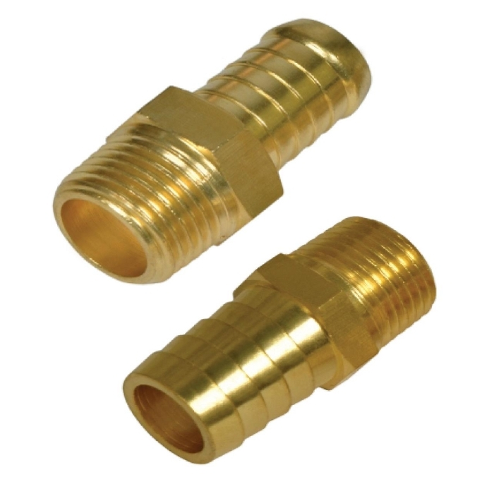 Brass Male Hose Barb Connector