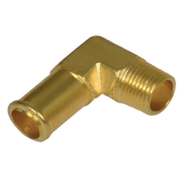 Brass Beaded Hose Barb Elbow