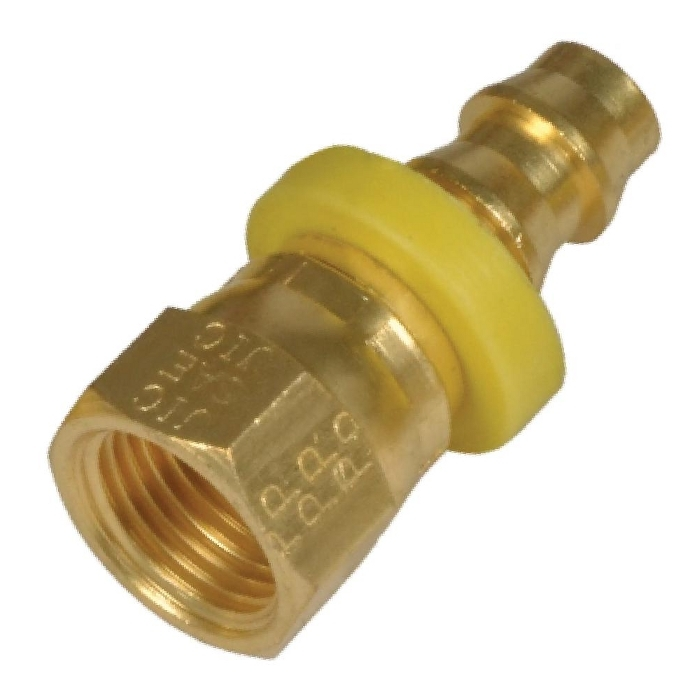 Brass Dual 45* & 37* Female Swivel SAE - JIC