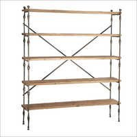 Reclaimed Wood & Iron Shelving