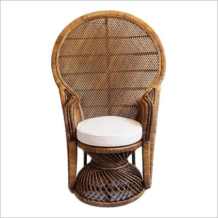 Antiqued Grand Peacock Chair