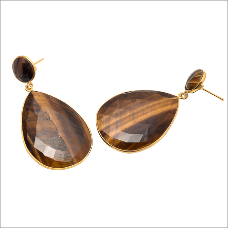 Tiger Eye Gemstone Earring