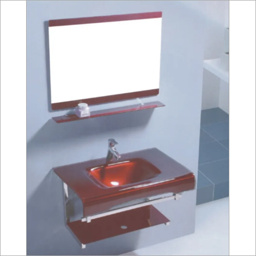 Wall Mounted Glass Vanity