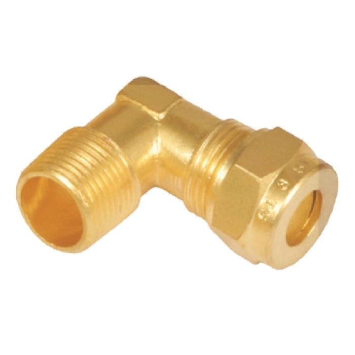Brass Male Stud Elbow