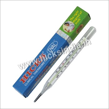 Oval Enclosed Scale Clinical Thermometer