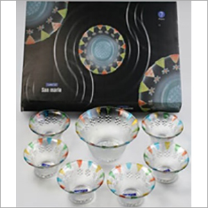 Glass Pudding Set