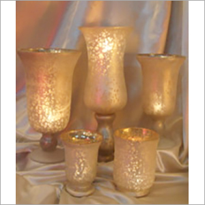 Mat Finish Silver Candle Holder
