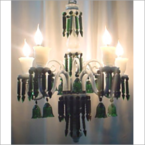 Candle Look Glass Chandelier