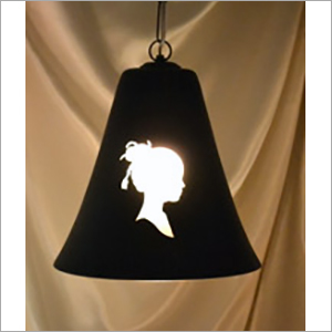 Victoria Face Etched Hanging Lamp