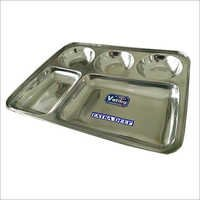 Stainless Steel Square Bhojan Thal