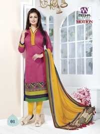 Pink Color Ayesha Takia Chanderi Suits With Designer Dupatta