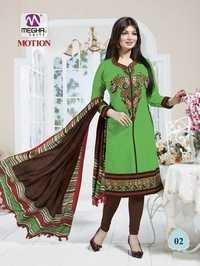 Green Color Ayesha Takia Chanderi Suits With Designer Dupatta