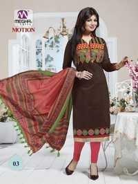 Brown Color Ayesha Takia Chanderi Suits With Designer Dupatta
