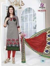 Gray Color Ayesha Takia Chanderi Suits With Designer Dupatta