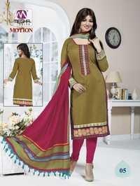 Light Brown Color Ayesha Takia Chanderi Suits With Designer Dupatta