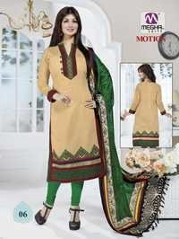 Biscuit Color Ayesha Takia Chanderi Suits With Designer Dupatta
