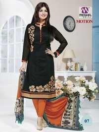 Black Color Ayesha Takia Chanderi Sui