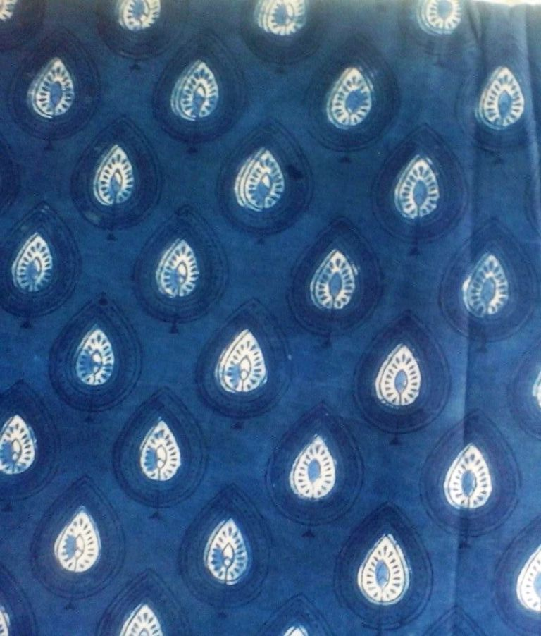 Indigo Blue Dabu Design 04