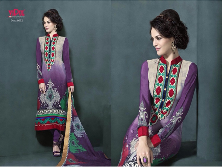 Crape Embroidery Salwar Kameez