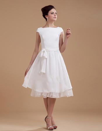 Short Wedding Knee Length Dresses