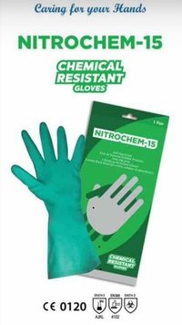 Rubber Hand Gloves for Chemical Industry