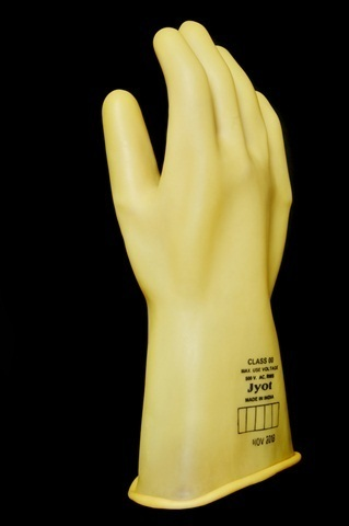 Electrical Shock Proof Safety Hand Glove As Per IS