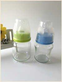 White Glass Baby Feeding Bottle