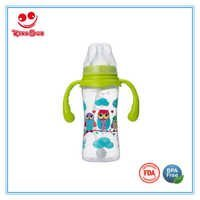 300ml BPA Free PP Baby Bottles with Handle