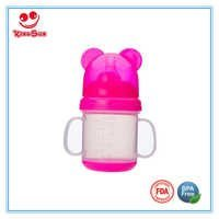 Plastic Baby Training Cup with Aniaml Cap 180ml/20