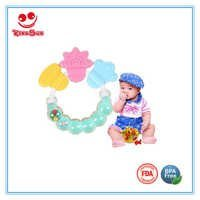 Rattle Silicone Baby Teether Toy