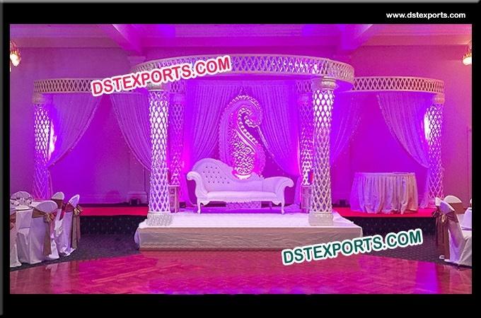 Diamond Cut Wedding Fiber Crystal Mandap Set