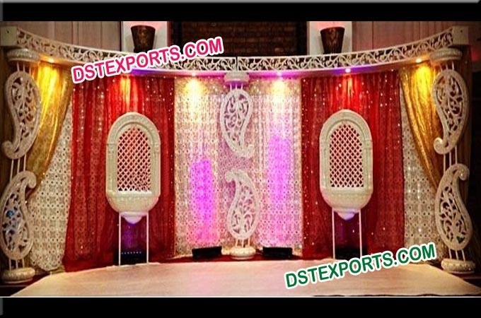 Indian Wedding Carrys Paisley Stage